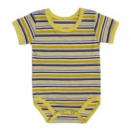 Imagem - Body Bebê  Listrado Lapuko - 10250-body-mc-listrado-amarelo