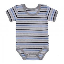Imagem - Body Bebê  Listrado Lapuko - 10250-body-mc-listrado-azul