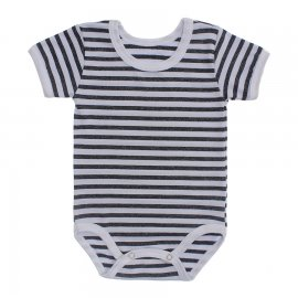 Imagem - Body Bebê  Listrado Lapuko - 10250-body-mc-listrado-chumbo