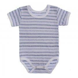 Imagem - Body Bebê  Listrado Lapuko - 10250-body-mc-listrado-cinza -claro
