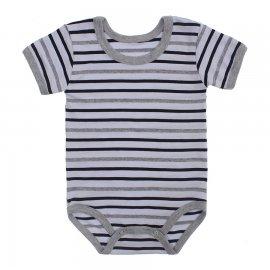 Imagem - Body Bebê  Listrado Lapuko - 10250-body-mc-listrado-preto