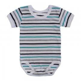 Imagem - Body Bebê  Listrado Lapuko - 10250-body-mc-listrado-verde