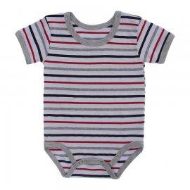 Imagem - Body Bebê  Listrado Lapuko - 10250-body-mc-listrado-vermelho