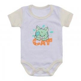 Imagem - Body Bebê Malha Canelada Estampado - 10233-body-mc-cat-off-white