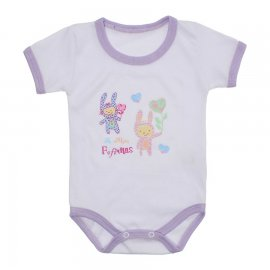 Imagem - Body Bebê Malha Canelada Estampado - 10234-body-menina-fofinhas-lilas