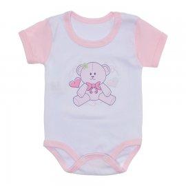 Imagem - Body Bebê Malha Canelada Estampado - 10234-body-menina-ursinha-rosa