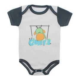 Imagem - Body Bebê Manga Curta Colorida Estampado - 9962-body-mc-girafa-cinza