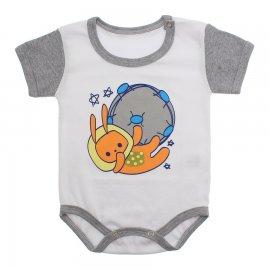 Imagem - Body Bebê Manga Curta Colorida Estampado - 9962-body-mc-globo-mescla