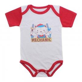 Imagem - Body Bebê Manga Curta Colorida Estampado - 9962-body-mc-mecanico-vermelho