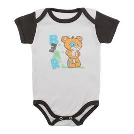 Imagem - Body Bebê Manga Curta Colorida Estampado - 9962-body-mc-ursinho-marrom
