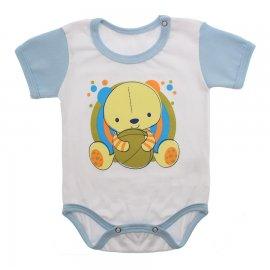 Imagem - Body Bebê Manga Curta Colorida Estampado - 9962-body-mc-urso-bola-azul