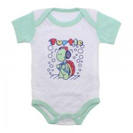 Imagem - Body Bebê Manga Curta Colorida Estampado - 9962-body-mc-verde-turtle