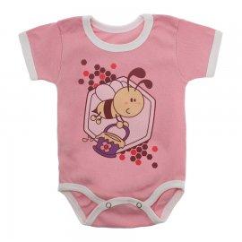 Imagem - Body Bebê Manga Curta Estampado Lapuko - 10152-body-mc-abelha-rosa