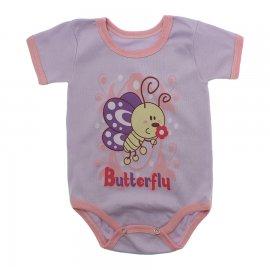 Imagem - Body Bebê Manga Curta Estampado Lapuko - 10152-body-mc-butterfly-lilas