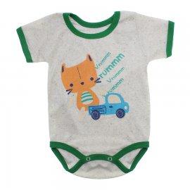 Imagem - Body Bebê Manga Curta Estampado Lapuko - 10152-body-mc-carrinho-creme-mescla