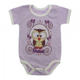 Imagem - Body Bebê Manga Curta Estampado Lapuko - 10152-body-mc-coruja-lilas