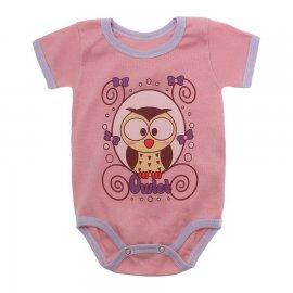 Imagem - Body Bebê Manga Curta Estampado Lapuko - 10152-body-mc-coruja-rosa