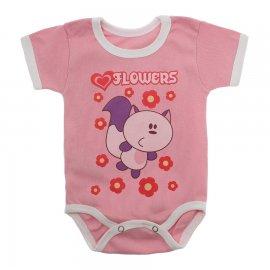 Imagem - Body Bebê Manga Curta Estampado Lapuko - 10152-body-mc-flowers-rosa