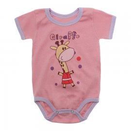 Imagem - Body Bebê Manga Curta Estampado Lapuko - 10152-body-rosa-lilas-girafa