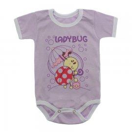 Imagem - Body Bebê Manga Curta Estampado Lapuko - 10152-body-mc-ladybug-lilas