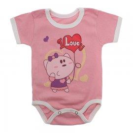 Imagem - Body Bebê Manga Curta Estampado Lapuko - 10152-body-mc-love-rosa