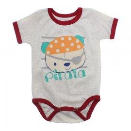 Imagem - Body Bebê Manga Curta Estampado Lapuko - 10152-body-mc-pirata-creme-mescla