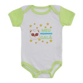 Imagem - Body Bebê Manga Curta Frases Divertidas - 9984-body-mc-verde-medio-gala