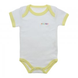Imagem - Body Bebê Manga Curta Lapuko  - 9916-body-mc-lapuko-bco-amarelo