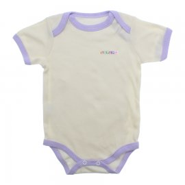 Imagem - Body Bebê Manga Curta Lapuko  - 9916-body-mc-creme-e-lilas