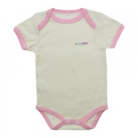 Imagem - Body Bebê Manga Curta Lapuko  - 9916-body-mc-creme-rosa