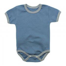 Imagem - Body Bebê Manga Curta Lapuko  - 10084-promo-body-ribana-azul-medio