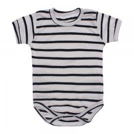 Imagem - Body Bebê Manga Curta Listrado - 10228-body-listrado-branco-preto