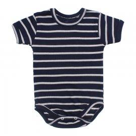 Imagem - Body Bebê Manga Curta Listrado - 10228-body-mc-marinho-branco