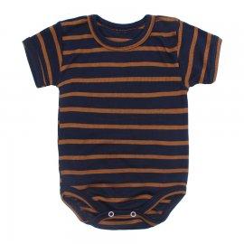 Imagem - Body Bebê Manga Curta Listrado - 10228-body-mc-marinho-marrom