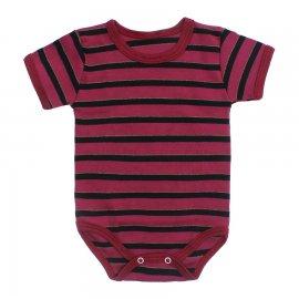 Imagem - Body Bebê Manga Curta Listrado - 10228-body-mc-listrado-vinho