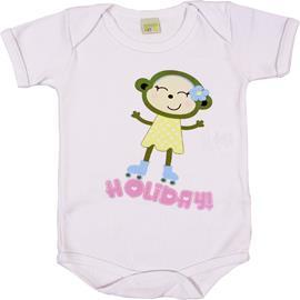 Body de Bebê Manga Curta Holiday