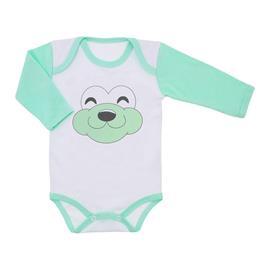 Imagem - Body de Bebê Manga Longa Carinhas - 9968-body-m-longa-carinhas-verde