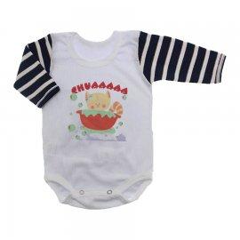 Imagem - Body Bebê Manga Longa Estampado Lapuko - 10221-body-ml-bco-list-chua