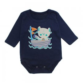 Imagem - Body Bebê Manga Longa Lapuko - 10190-body-ml-barco-marinho