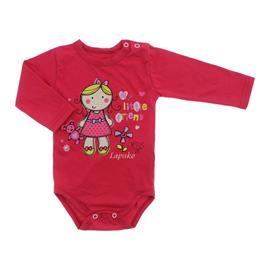 Imagem - Body Bebê Manga Longa Lapuko - 10062-body-MNA-boneca-pink-mescla