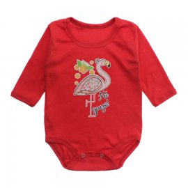 Imagem - Body Bebê Manga Longa Lapuko - 10191-body-ml-flamingo-vermelho