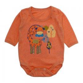 Imagem - Body Bebê Manga Longa Lapuko - 10190-body-ml-girafa-laranja