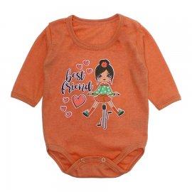 Imagem - Body Bebê Manga Longa Lapuko - 10191-body-ml-girl-laranja
