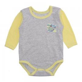 Imagem - Body Bebê Manga Longa Lapuko Mescla - 10199-body-ml-mescla-amarelo-menino