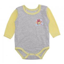 Imagem - Body Bebê Manga Longa Lapuko Mescla - 10200-body-mescla-menina-amarelo
