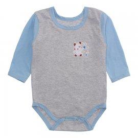 Imagem - Body Bebê Manga Longa Lapuko Mescla - 10199-body-ml-mescla-azul-bebe