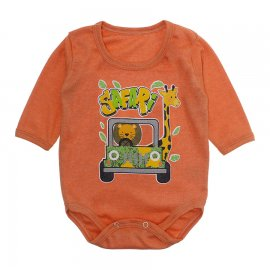 Imagem - Body Bebê Manga Longa Lapuko - 10190-body-ml-safari-laranja
