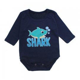 Imagem - Body Bebê Manga Longa Lapuko - 10190-body-ml-shark-marinho