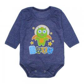 Imagem - Body Bebê Manga Longa Lapuko - 10190-body-ml-space-azul