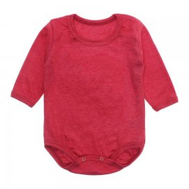 Imagem - Body Bebê Manga Longa Lapuko - 10195-body-ml-ribana-vermelho-mescl